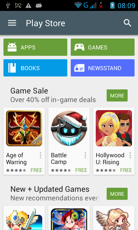 Update Play Store for App Android Material Design