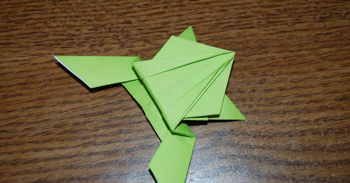 epic origami the hopping frog