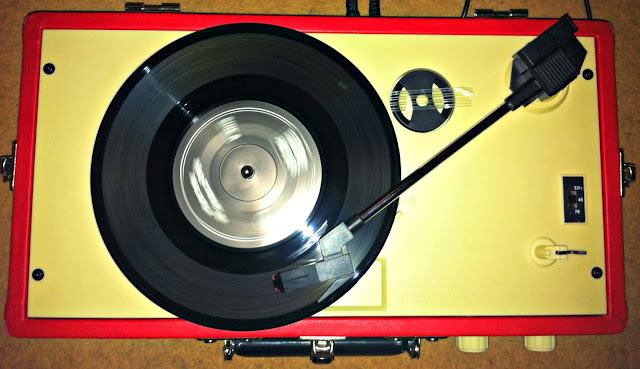 Retro Red Record Deck