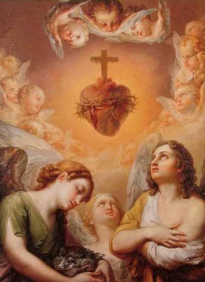 Mois de Juin = Dévotion au Sacré Coeur Sacr%C3%A9+Coeur+aux+Anges+1