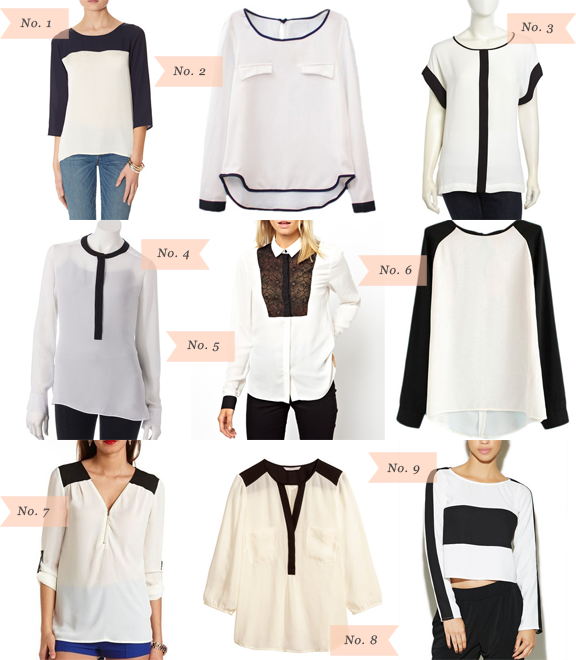 Über Chic for Cheap: Must Have: Black and White Contrast Blouses