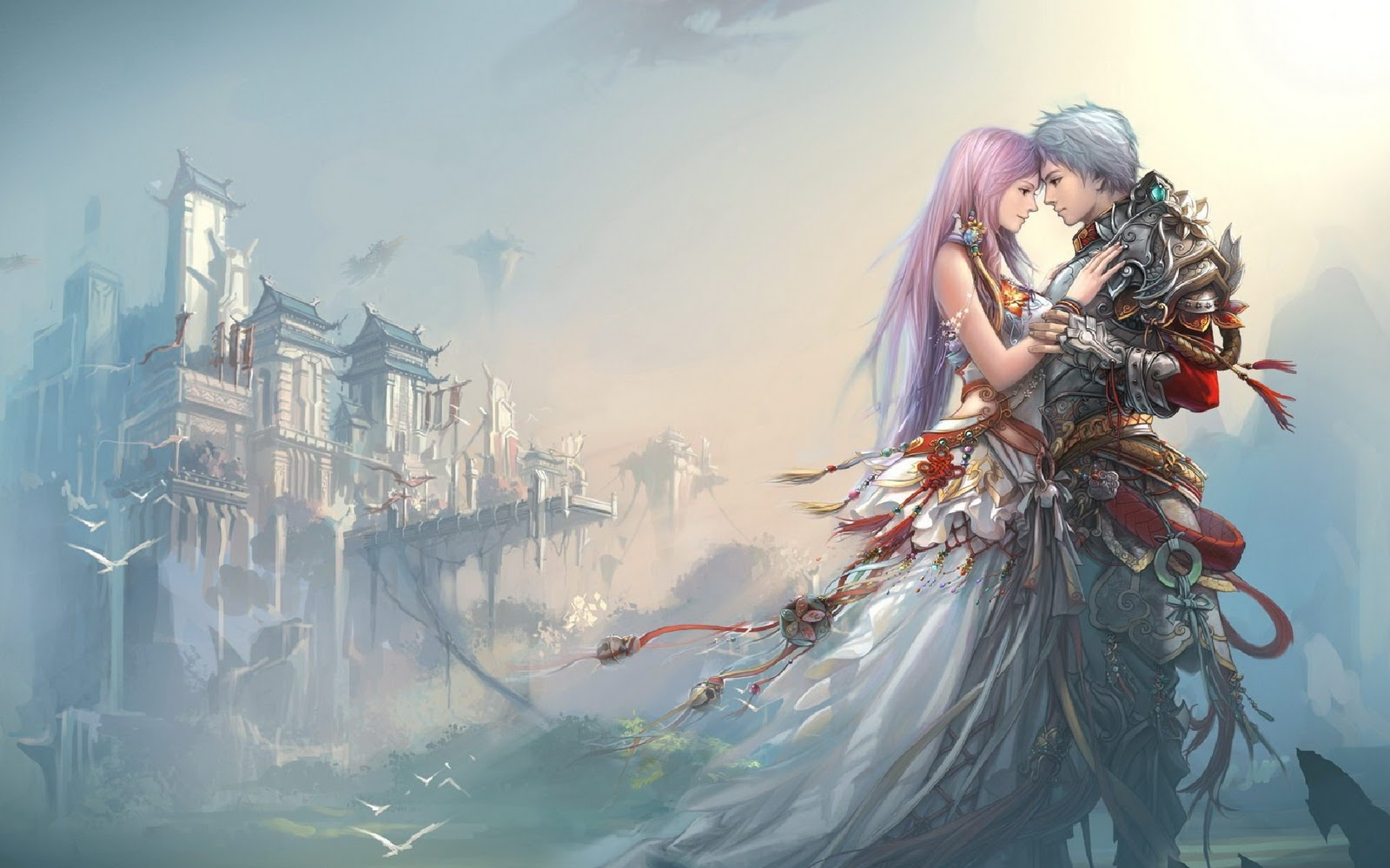 Love Wallpaper Boy And Girl : Anime Boy Girl Love castle HD Wallpaper Love Wallpapers ...