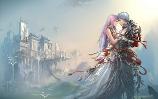 Anime Boy Girl Love Castle HD Wallpaper