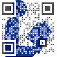 QR code linking to Facebook page: Yarn Bombing @ Your Library