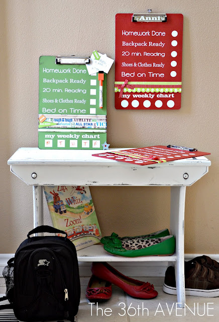DIY Dry Erase back to School Charts. Easy to follow step by step tutorial at the36thavenue.com