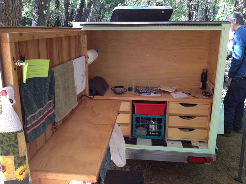Interior teardrop trailer pinterest for Teardrop camper interior ideas