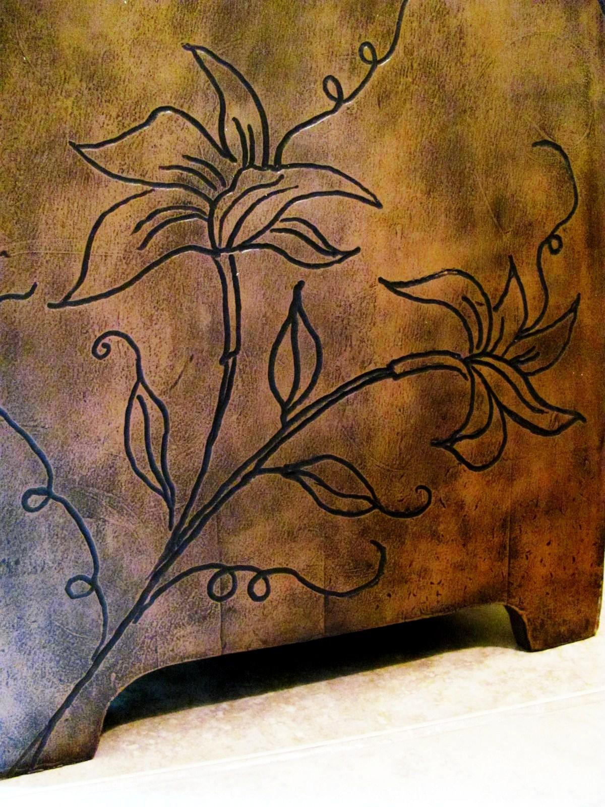 Wood carving designs furniture - Carved Flower Table Using Dremel