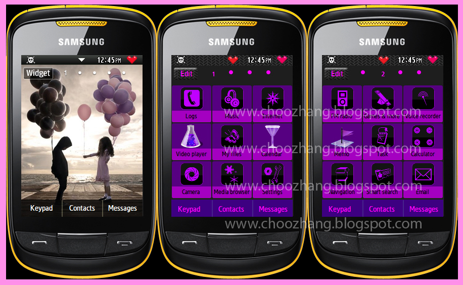 Samsung Corby 2 or S3850 - Emo + Dark Themes