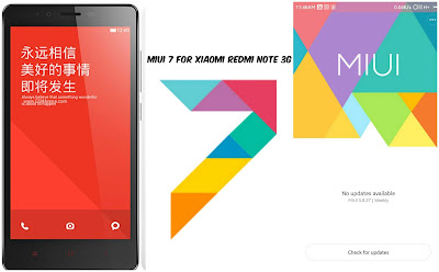 Update Rom MIUI 7 Xiaomi Redmi Note 3G (China, Global)
