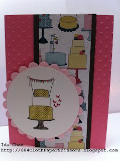 Stampin' Up! Make a Cake card by Ida Chan