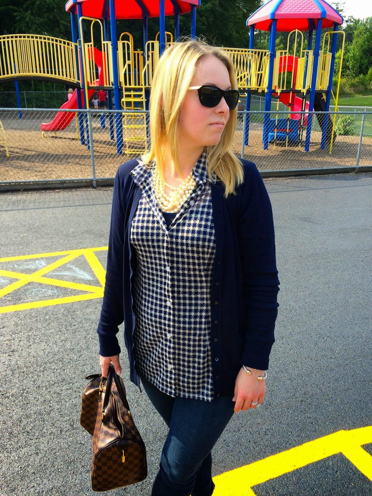 navy-check-blouse