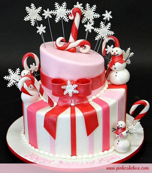 candy cane inspired wedding cake