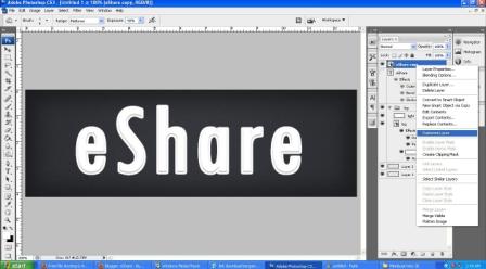 Membuat efek tulisan 3D dengan Photoshop CS3 | Anime Sharing