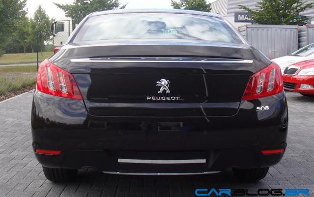 Novo Peugeot 508 2013 - traseira