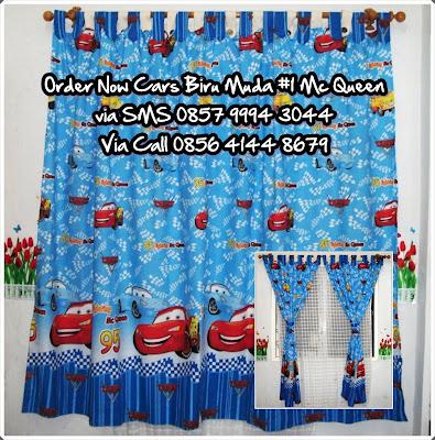 Gorden Cars Biru Muda #1 Mc Queen [Kode= Cars #1 Biru]