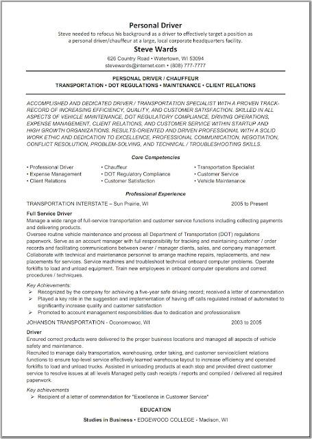 resume samples lift driver resume