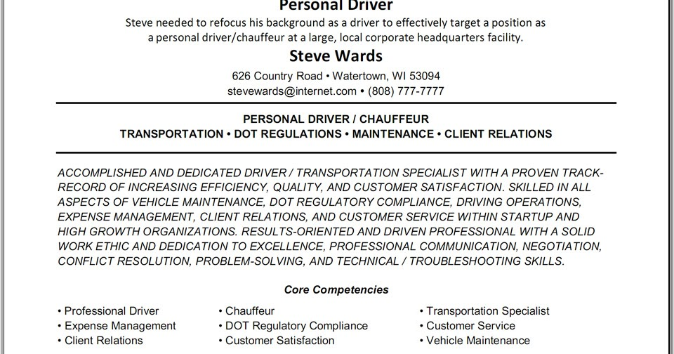 resume samples lift driver resume
