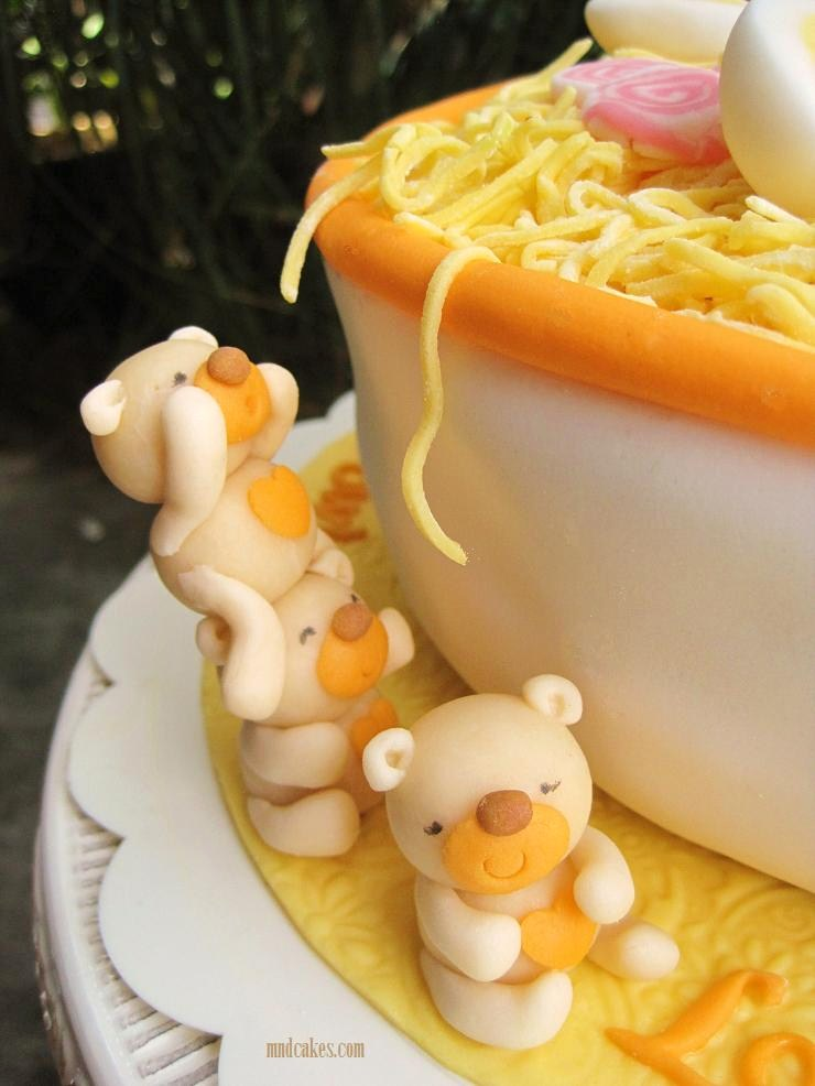Longevity Noodle Birthday Cake For A 80 Years Old Dad