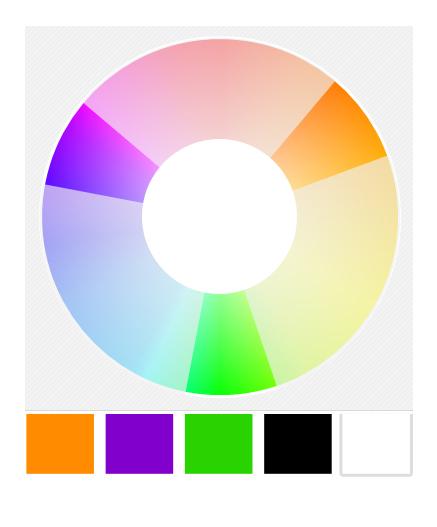 Traditional Halloween Color Wheel