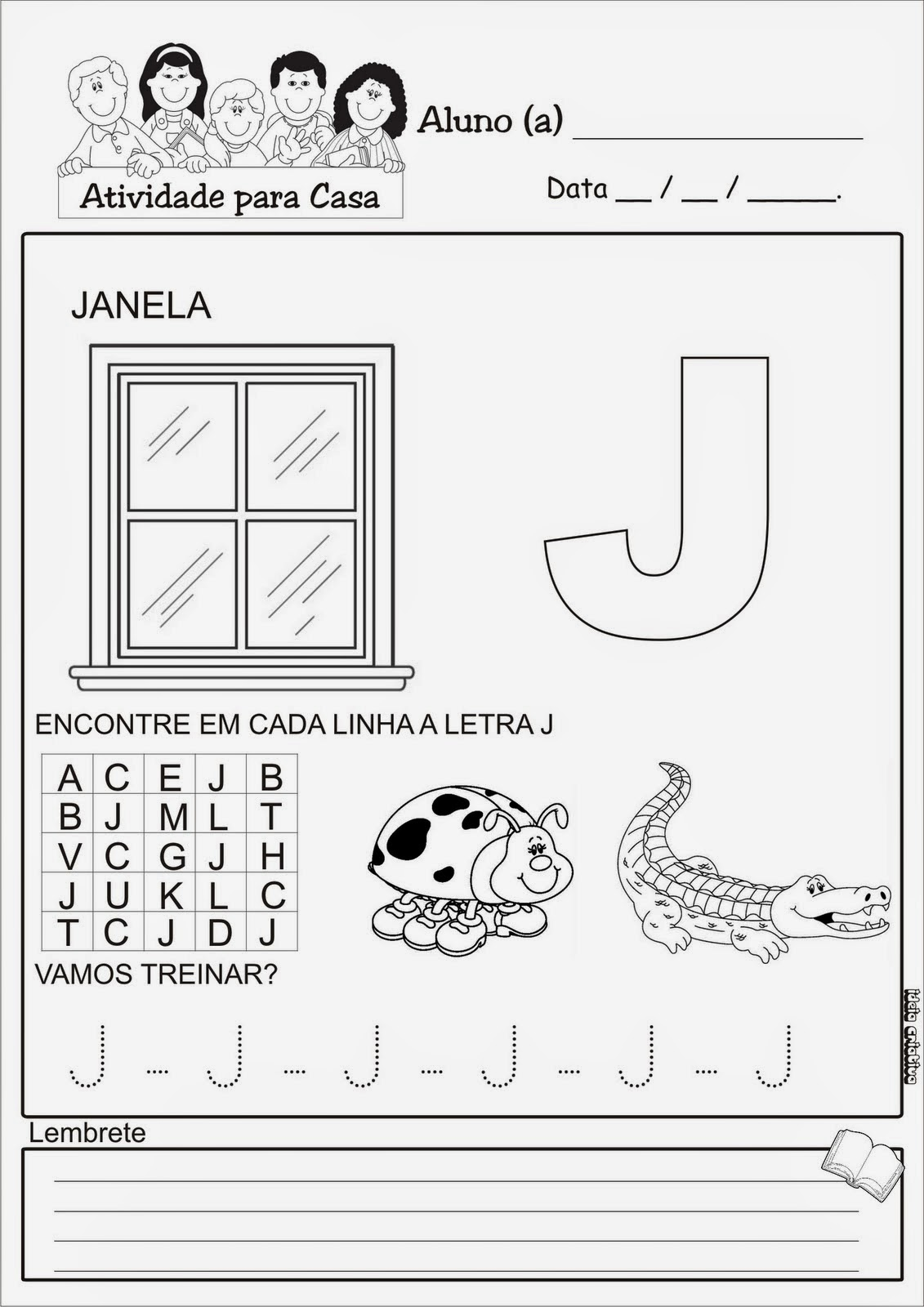 Super Atividades com a letra J | Viver de Educar TV93