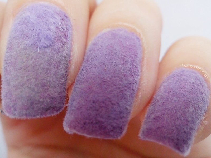 Fluffy Fur Lilac Nails KKCenterHk