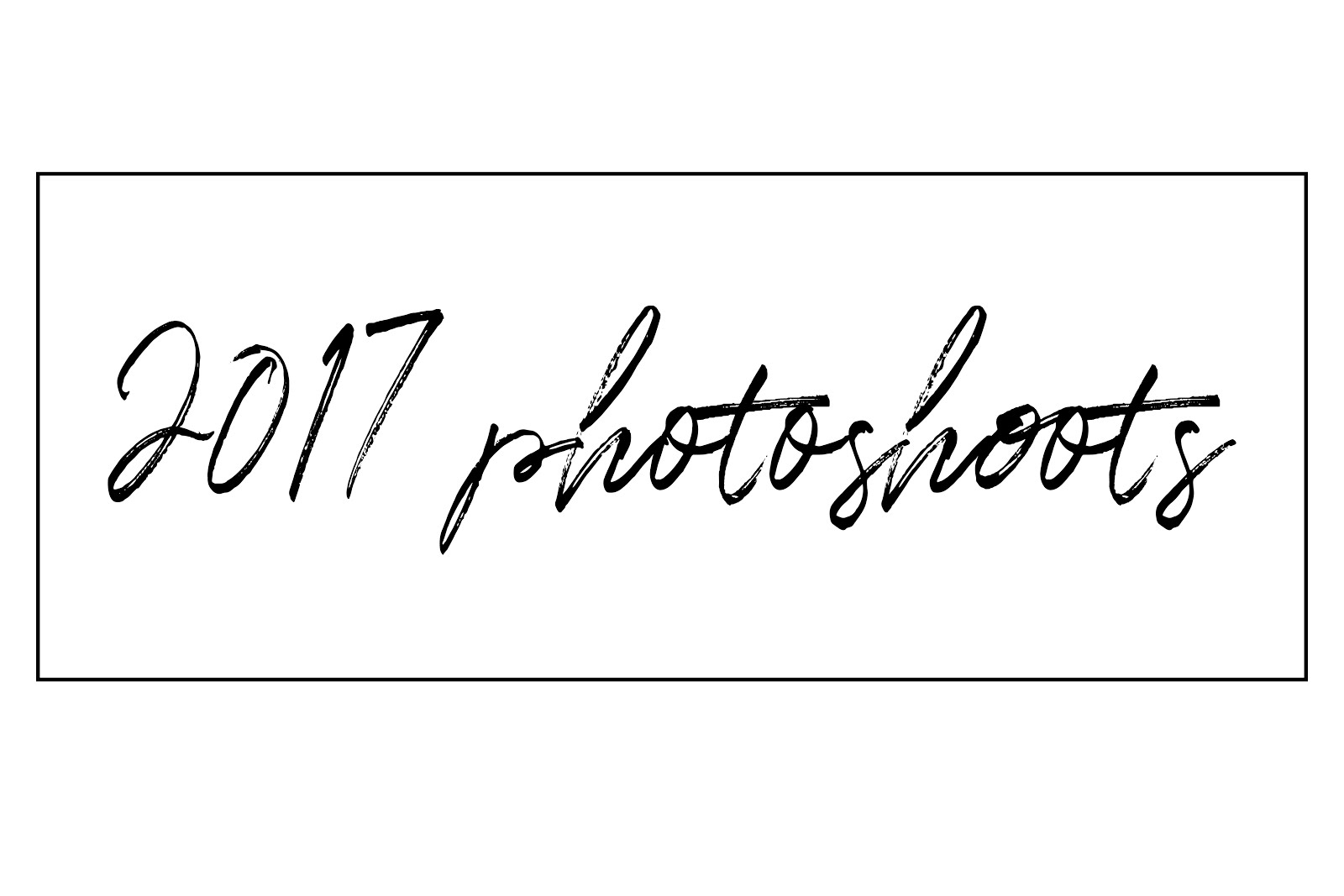2017 Photoshoots