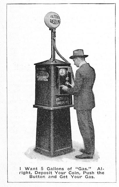 Coin deposit gas pump