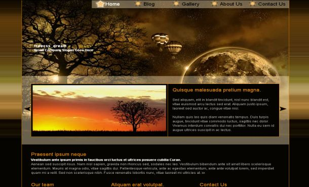 Dream Travel Black Jquery CSS Template