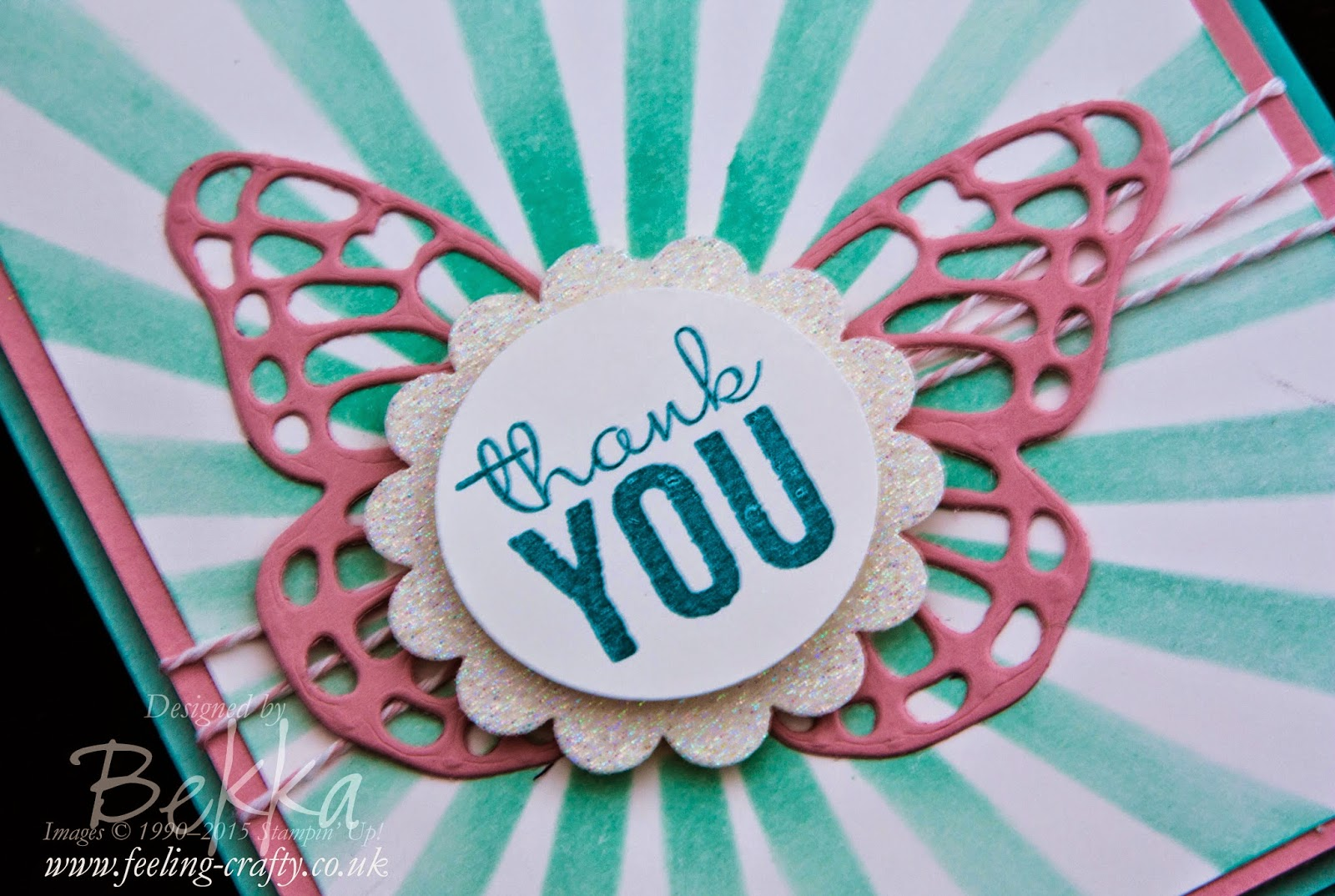 Star Burst Thank You Card featuring Painted Petals from Stampin' Up! UK