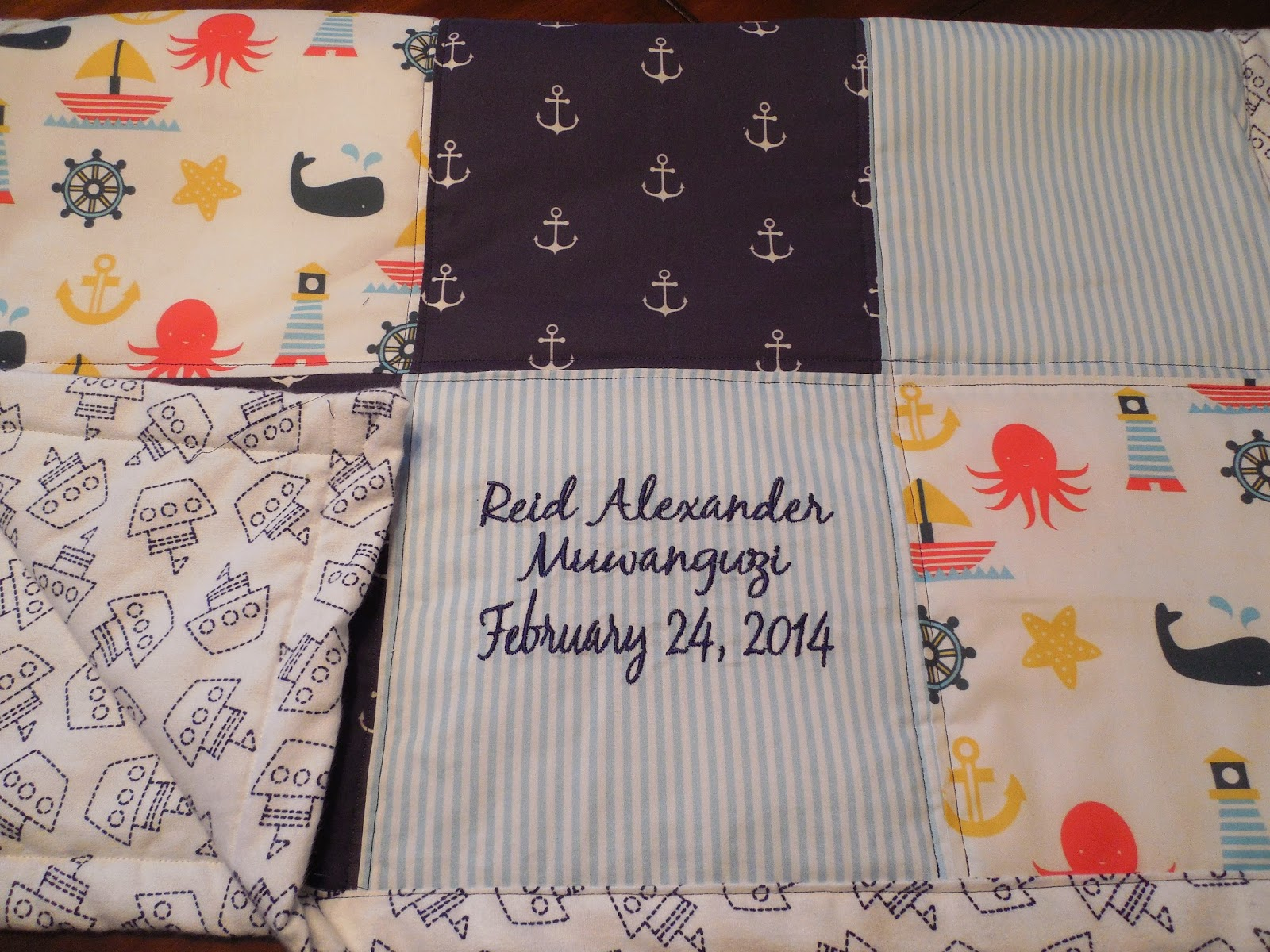 Working House Mom, Wife: Baby Reid's Personalized Quilt : personalized photo quilt - Adamdwight.com