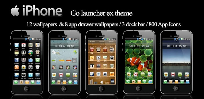 IPhone Go Launcher Theme V141