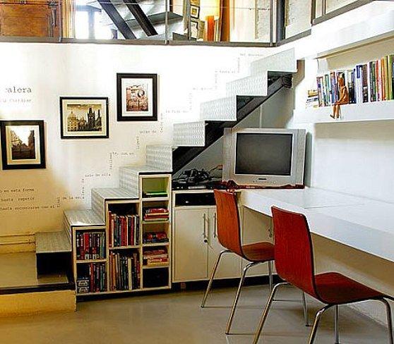 Mi toque final e s c a l e r a s bien aprovechadas for Bibliotecas debajo de escaleras