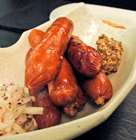 japanese bershire sausages dijon mustard