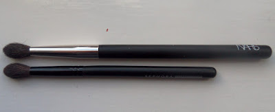 Nars Large Dome Eye Brush vs. Sephora Classic Rounded Crease Brush