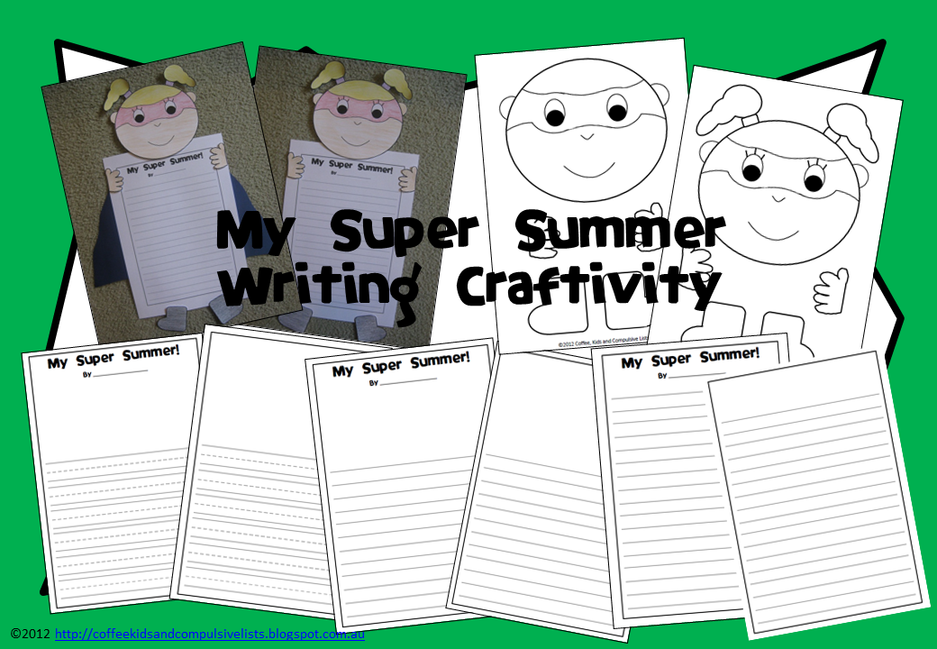 http://www.teacherspayteachers.com/Product/My-Super-Summer-Writing-Craftivity-A-Back-to-School-Activity-265972