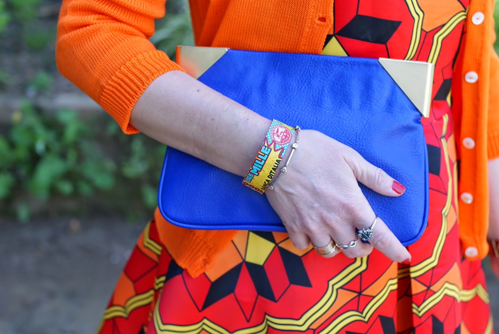 Millelire POP braccialetto, Zara purple clutch, infinity ring, Fashion and Cookies, fashion blogger