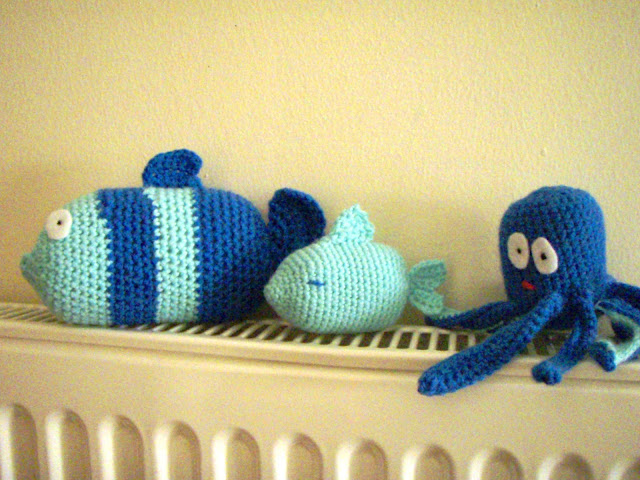funny crochet plush toys fish octopus