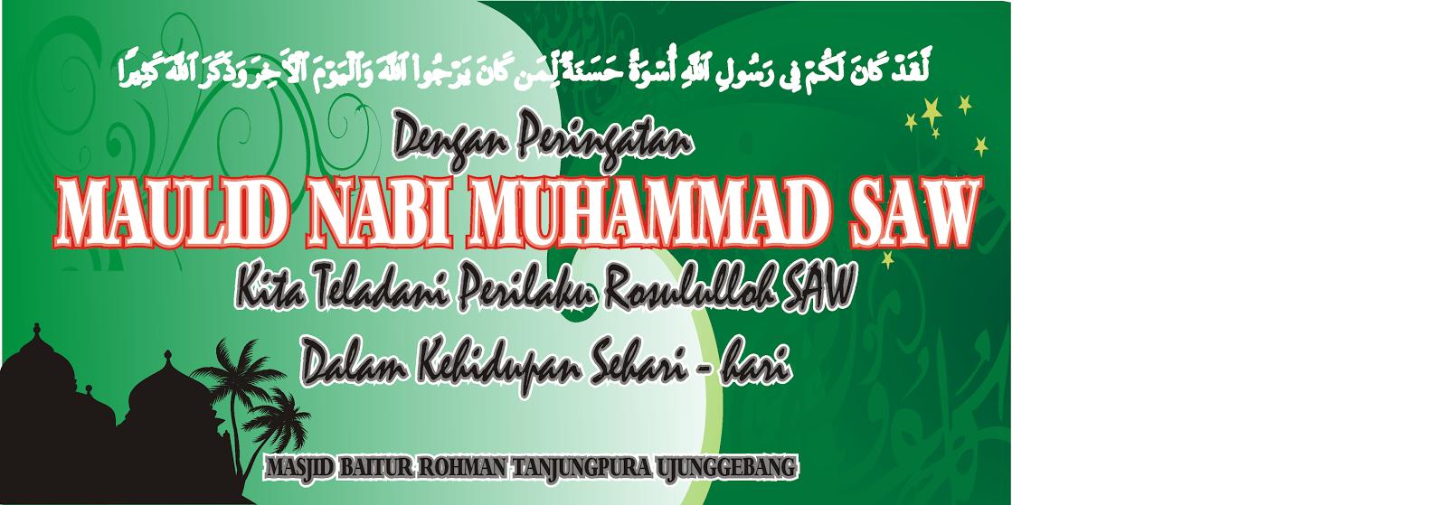 Artikel Tentang Contoh Spanduk Maulid Nabi Muhammad Saw yang ada di