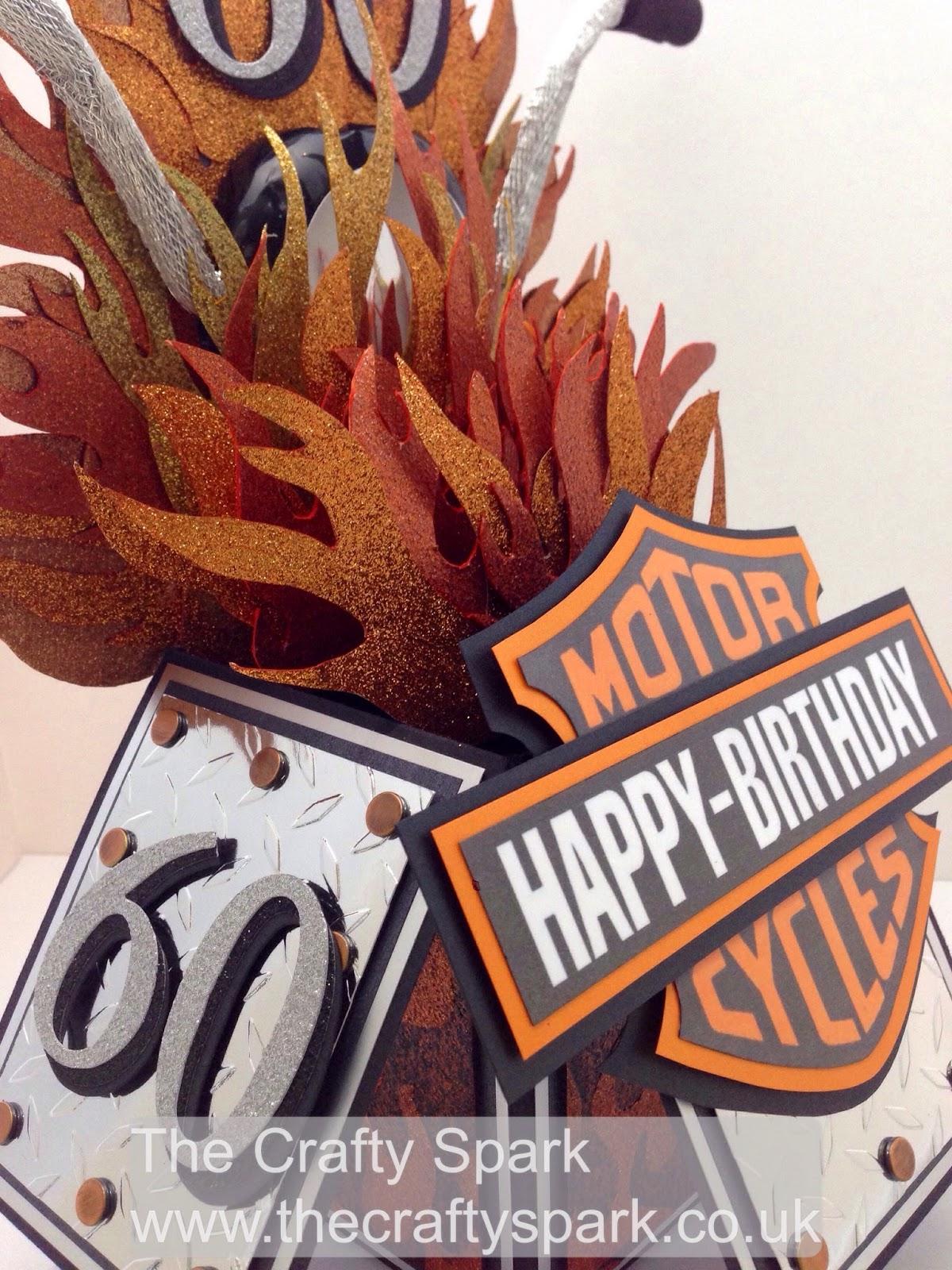 Harley Davidson 60th Birthday Card The Crafty Spark – Harley Davidson Birthday Cards