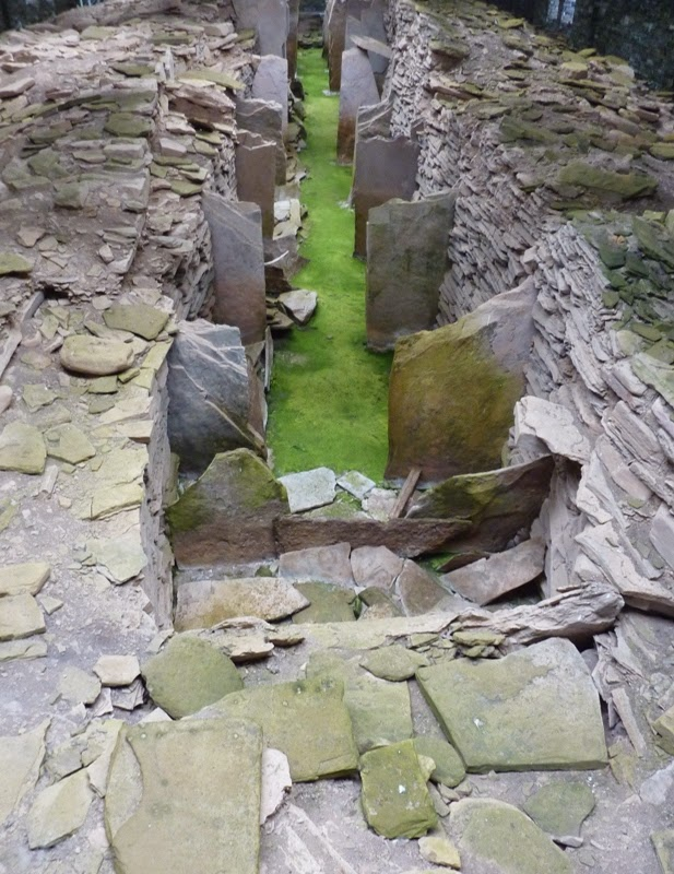 Midhowe Chambered Cairn, Orkney, Scotland