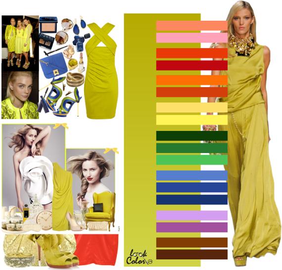 желто-зеленый цвет