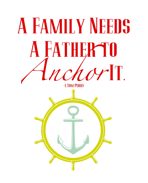 Printable Father's Day Quote @ Blissful Roots