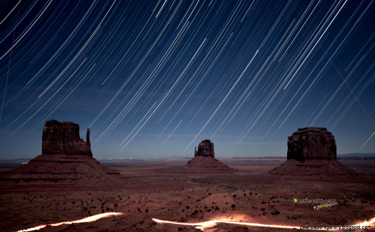 Night Monument Valley Wallpapers HD Wallpaper Downloads