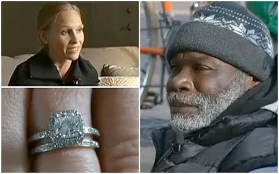 A homeless man who returned an engagement ring worth thousands