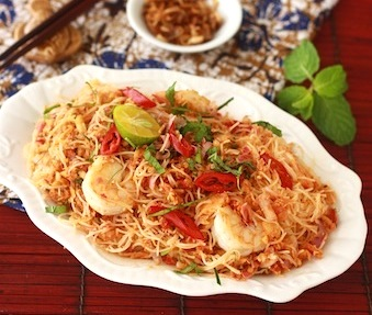 how to make kerabu bee hoon recipe?