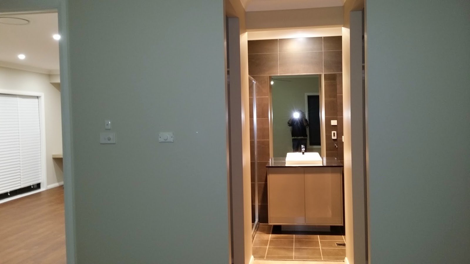 view into the master suites ensuite bathroom