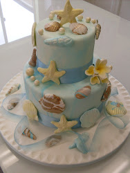 Intermediate 11 Beach themed Shell effect cake class.
