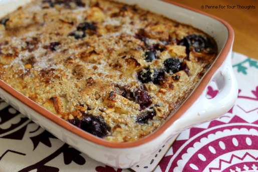 Apple & Blueberry Baked Porridge