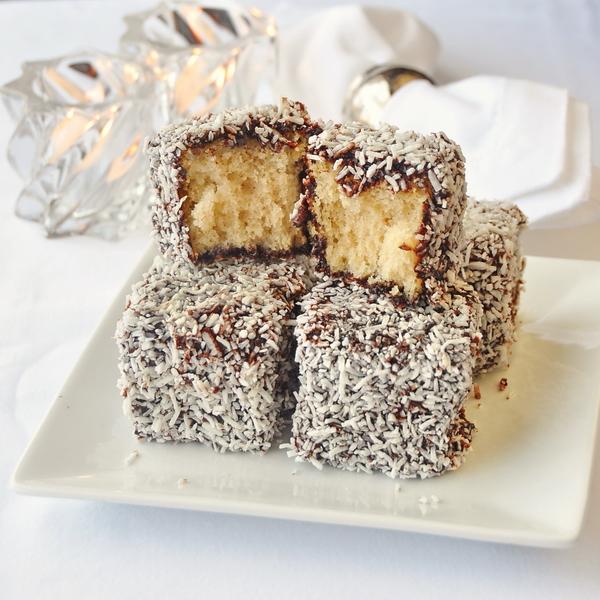 Chocolate Coconut Cake Squares a.k.a. Lamingtons!