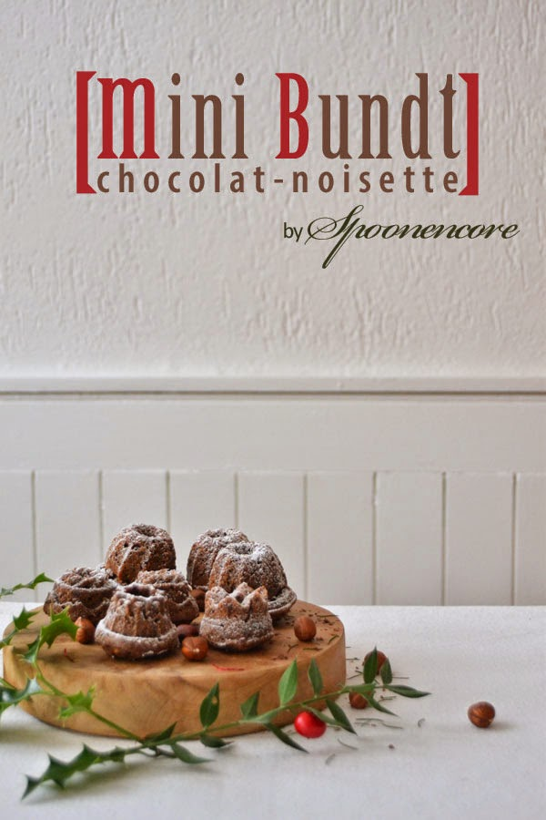 chocolate hazelnut mini bundt cakes